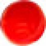 Вставка (1.5x1.5) BOTON CRISTAL ROJO