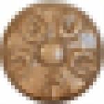 Вставка (1.5x1.5) BOTON FLOR GOLD